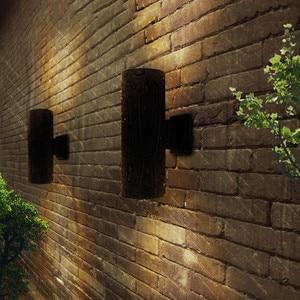 Image 3 - BEIAIDI 6/10/18/24W yukarı aşağı LED sundurma duvar lambası dış mekan silindir Villa avlu Stigma duvar lambası su geçirmez sokak aydınlatma