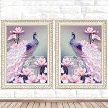 hot deal buy peacock 5d diy diamond painting diamond embroidery cross stitch scenery diamond embroidery mosaic diamond wall painting decor