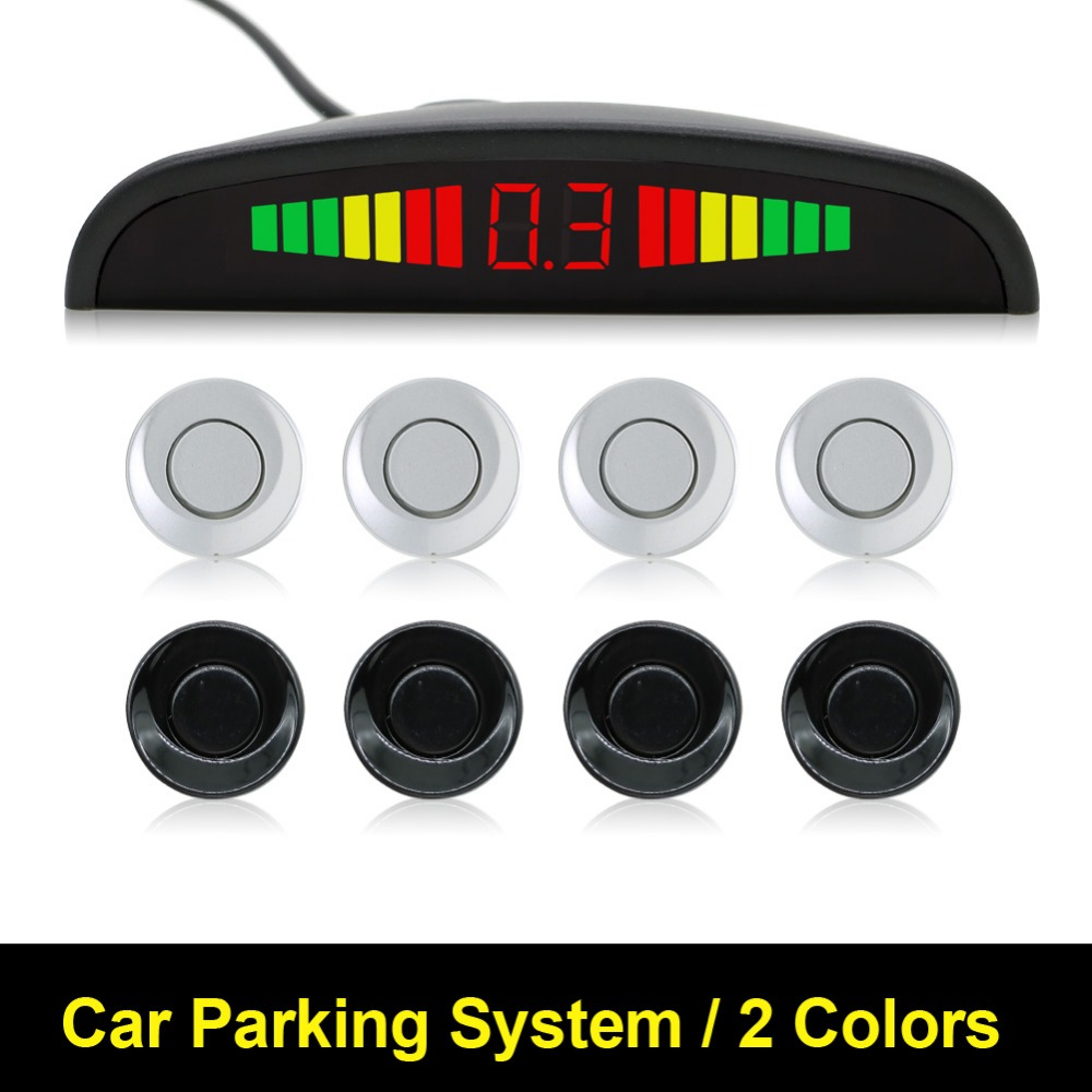 imágenes para 1 Unidades Car Kit Display LED Sensor de Aparcamiento 4 Sensores para todos los coches Asistencia Inversa Monitor de Reserva Del Radar Del Sistema Detector Automático LED