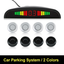 1 Unidades Car Kit Display LED Sensor de Aparcamiento 4 Sensores para todos los coches Asistencia Inversa Monitor de Reserva Del Radar Del Sistema Detector Automático LED