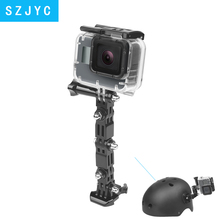 JYC 4 Way Adjustable Pivot Arm Tripod Mount for GoPro Hero 7 6 5 Black Xiaomi Yi 4K Sjcam Sj4000 Eken Go Pro Hero 5 Accessory цена и фото
