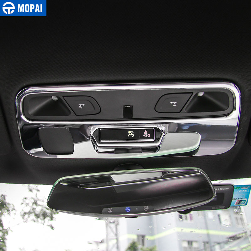 Image 4 - MOPAI ABS Car Interior Roof Reading Light Lamp Decoration Cover Stickers for Chevrolet Camaro 2017 Up Car Accessories Styling-in Interior Mouldings from Automobiles & Motorcycles