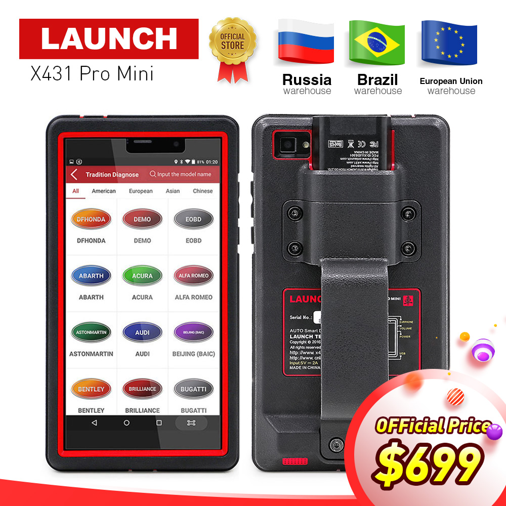 LAUNCH X431 Pro Mini Auto diagnostic tool Support WiFi/Bluetooth full system X-431 Pro Pros Mini Car Scanner 2 years free update цена 2017