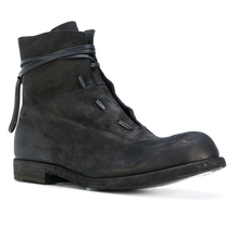 Punk Britain Men Leather Round Toe Pull On casual Work Mid Calf Boots Size H5