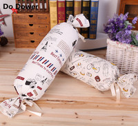 2017 New Individual Linen Printed Long Pillow Canvas Candy Cushion