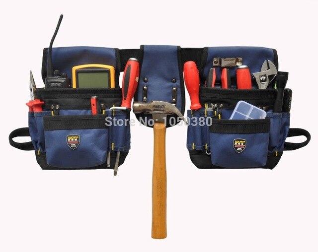 Trabajo cintura bolsa de almacenamiento de herramientas electricista  carpintero técnicos herramienta bolsa mano Cubo de bolsillo 98d8bac66727