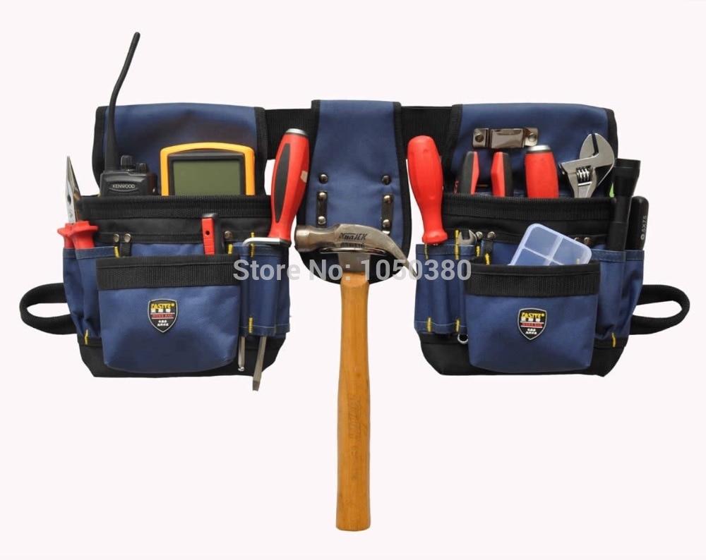 belt waist dual packs Bag quick-pick versatile pouch apron pockets Electrician Bodypack Portable Canvas Oxford Waterproof asus h87 plus deluxe board 1150 b85 motherboard