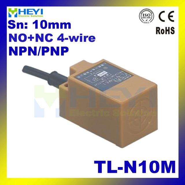 4 wire NO+NC inductive proximity sensor TL N10M DC6 36VDC 90 250VAC ...
