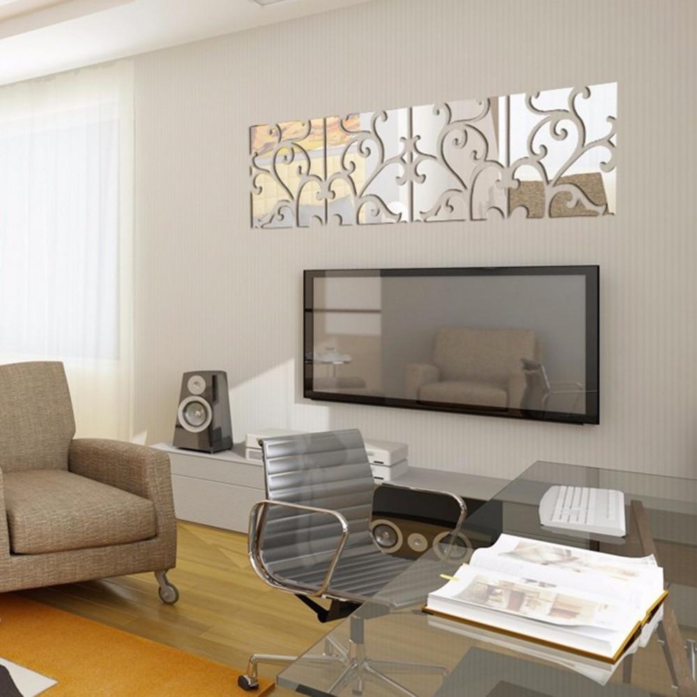 2016 Crystal Reflective DIY Wall Mirror Stickers Mirror