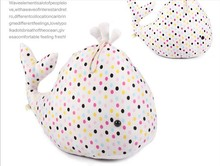 plush dolphin toy colourful spots dolphin doll high quality whale doll gift toy about 60cm