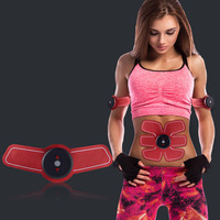 Rechargeable EMS Abdominal Muscle Stimulator Exerciser Trainer Muscles Intensive Training Weight Loss Slimming Massager Machine