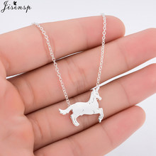 Jisensp Cute Horse Necklace & Pendant for Women Gift Trendy Animal Unicorn Pet Charm Necklace Jewelry Lover Gift for Ladies(China)