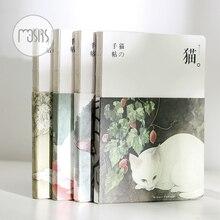 Новый пустой Sketchbook дневник рисунок граффити живопись sketch book 80 листов Винтаж Cat Тетрадь офисной бумаги школьные принадлежности