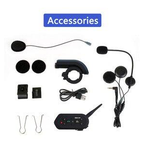 Image 4 - EJEAS E6 בתוספת אופנוע אינטרקום 1200M Communicator Bluetooth קסדת האינטרפון אוזניות VOX עם שלט רחוק עבור 6 רוכבים