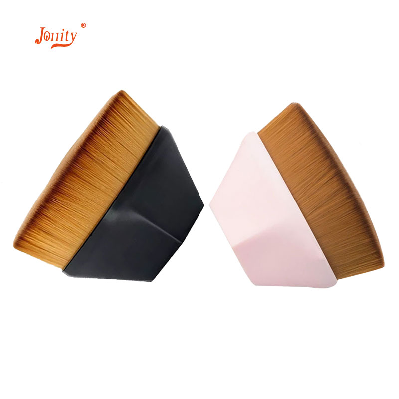 jollity 1Pcs Makeup Brush Synthetic Hair Plastic Handle Foundation For Professionals Beginner Fast Make up Tools Set
