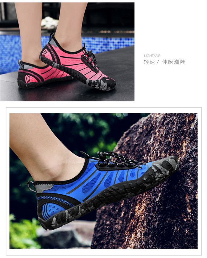 Unisex Swimming shoes Water Shoes Bicycle Seaside Beach Surfing Slippers Skiing Outdoor Five Finger Soft Fitness Light Shoes (12)