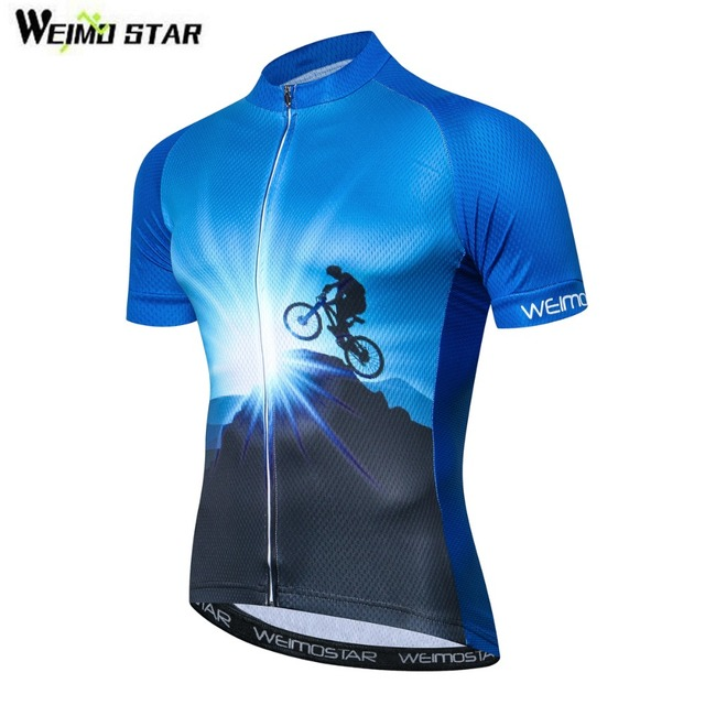 4b0c62344 Men Racing Cycling Jersey Tops Bike Shirt Short Sleeve Bicycle Clothes  quick dry Cycling Clothing Bike Team Ropa Ciclismo Blue