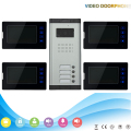 touch keypad  Apartment house Video Door Phone Intercom System  Doorbell Camera with 4 response button 4 Monitor security kit