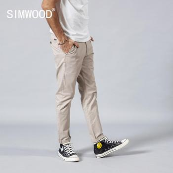 SIMWOOD 2019 Summer Autumn New Casual Pants Men  Cotton Slim Fit Chinos Fashion Trousers Male Brand Clothing Plus Size 5