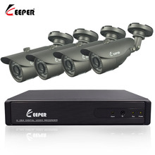 KEEPER 4CH 1080N Surveillance CCTV System Kit With 4PCS 1080P 2.0MP HD AHD Outdoor Security IR CCTV Camera