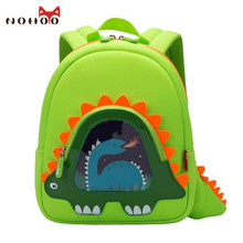 NOHOO Dinosaur Children WaterProof School Backpack for Kids Cartoon Small Backpack Kids Boys Orthopedic School Bag
