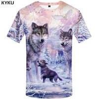 KYKU marque loup T-shirt femmes neige vêtements Jungle T-shirt hauts vêtements 3d T-shirt femmes Hip hop haut sexy T-shirt femme