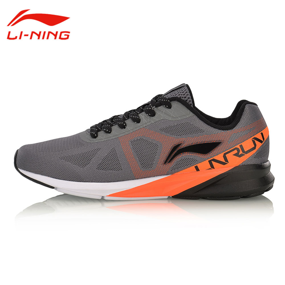 Li-Ning Men Colorful Cushion Running Shoes LiNing Breathable Vamp Wearable Sports Shoes Li Ning Sneakers ARHM039 li ning brand men basketball shoes sonicv series professional camouflage sneakers support lining breathable sports shoes abam019