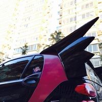 Painted ABS sports Car Rear Devil Spoiler Wing For Benz Smart  fortwo 2009-2015  except cabriolet style  Black and white