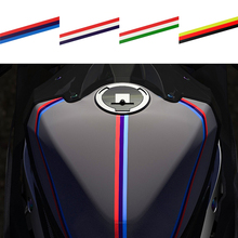 Motorcycle Stickers Fuel Tank Sticker Strip Protective Decals Moto Car Universal Motorbike Sticker PVC Reflective Film 5 styles forever senna sempre ayrton car stickers motorcycle helmet phone sticker decals reflective moto gp driver
