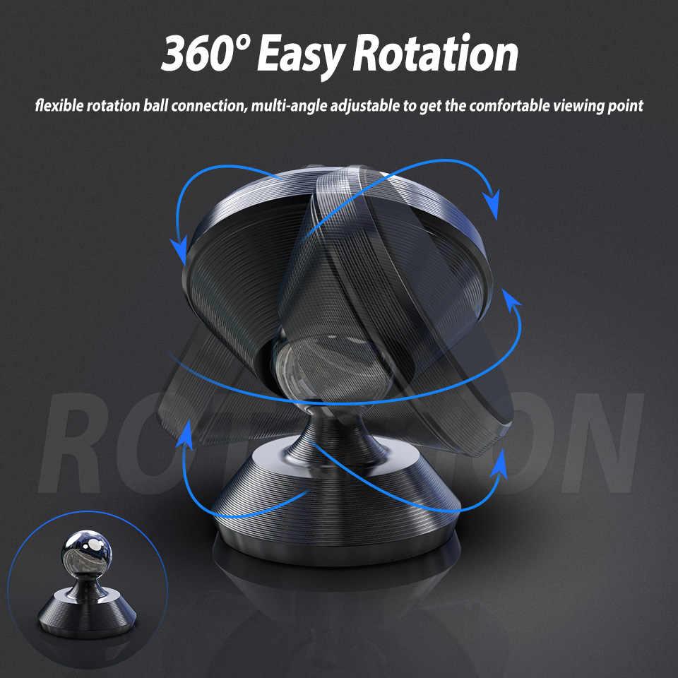 360 دوران المغناطيسي لوحة سيارة حامل حامل ل فون سامسونج هواوي السيارات GPS الهواء تنفيس جبل مغناطيسي للسيارة الذكي دعم