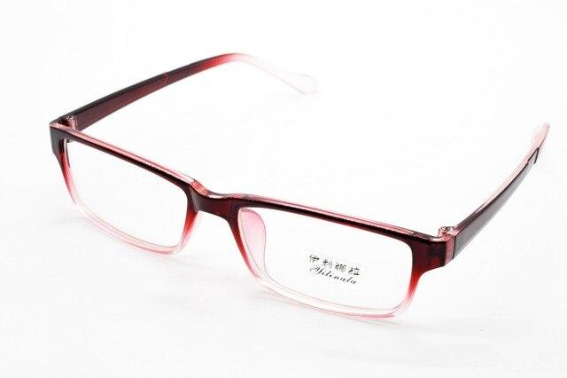 Full-rim мода красный постепенное очки на заказ оптический близорукость и очки для чтения объектив + 1 + 1.5 + 2 + 2.5 + 3 + 3.5 + 4 + 4.5 + 5 + 5.5 + 6