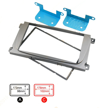 2 Din Car Stereo Radio HeadUnit GPS Navigation Plate Panel Frame for Ford Mondeo Focus C-Max S-Max Galaxy Kuga 2004~2013 Fascias image