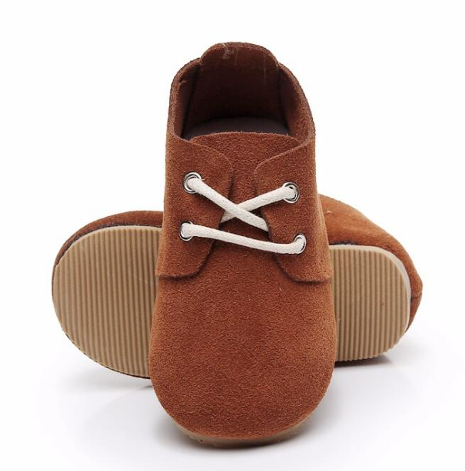 New style lace up High quality handmade baby maccasins genuine leather shoes hard sole kids girls and boys shoes fashionable