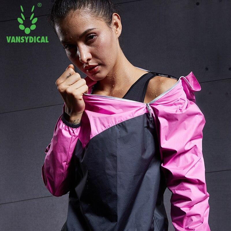 2019 VANSYDICAL femmes sport course Sweat veste perdre du poids Sportswear femmes Yoga ensembles Gym tissu Fitness entraînement piste veste
