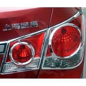 Wyższa gwiazda ABS Chrome 4 sztuk samochodów taillight dekoracji wykończenia, lampa tylna pokrywa, tylna lampa pokrywa dla Chevrolet Cruze 2009-2012