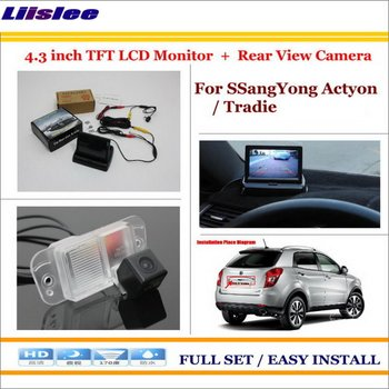 "Liislee For SSangYong Actyon / Tradie - Car Reverse Backup Rear Camera + 4.3"" TFT LCDMonitor = 2 in 1 Rearview Parking System"