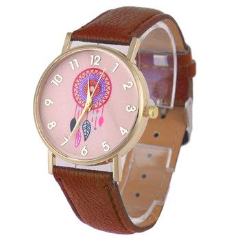 Quartz Watch Fashion Dreamcatcher Pattern Leather Band Analog Quartz Vogue Wrist Watches Relojes Mujer Montre Femme 2016 New analog watch