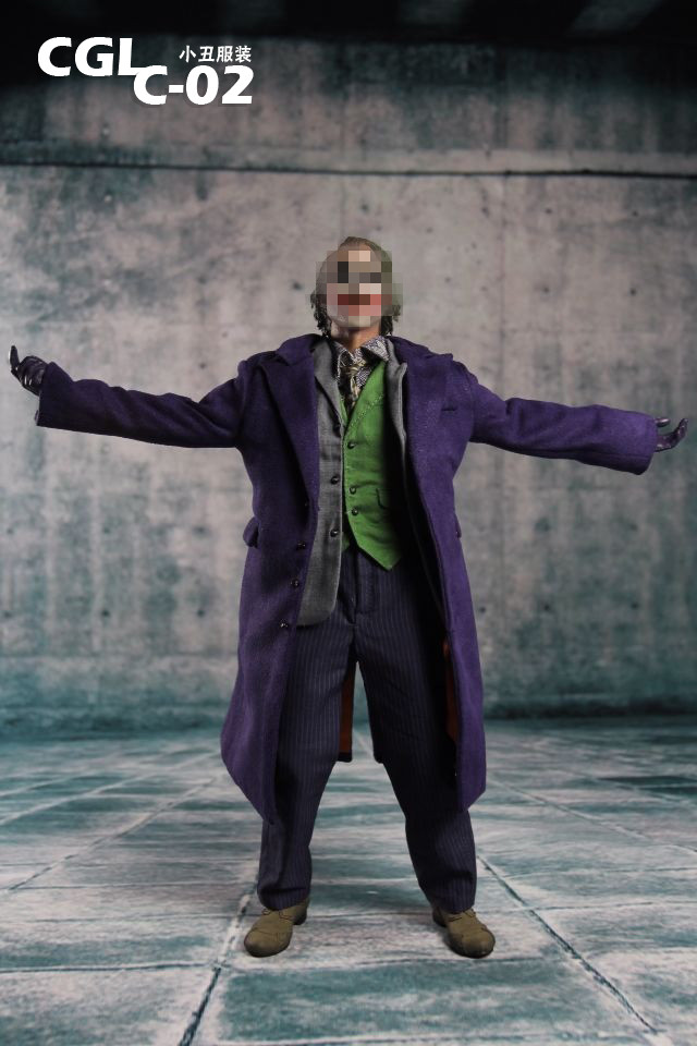1:6 male Figure accessories Batman JOKER Heath Ledger suit for 12 Action figure doll,not include body;head;weapon and other 1 6 figure doll male clothes batman joker robbers clothing for 12 action figure doll accessories not include doll and other