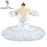 hot sale princess florina white swan lake flower fairy professional classic nutcracker ballet tutu pancake tutu for girlsBT9143B
