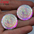 30pcst 30mm AB Color Round Resin Flatback Rhinestone Cabochon Garment Accessories Jewellery Beads  ZZ514