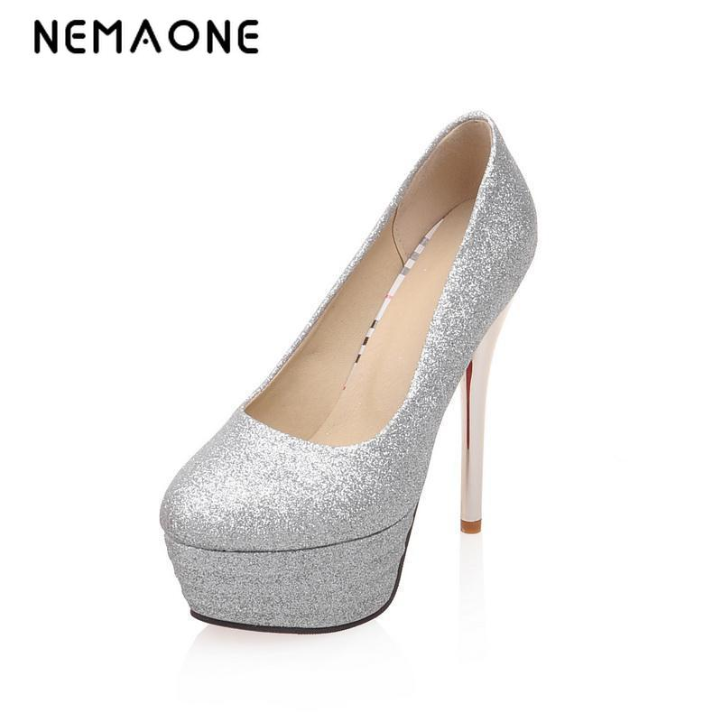 NEMAONE 2016 new fashion women high heel shoes ladies fashion lady pumps woman sexy footwear heels platform shoes big size 4-12 xiaying smile summer new woman sandals platform women pumps buckle strap high square heel fashion casual flock lady women shoes