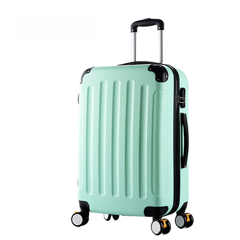20inch Classic striped patch Trolley suitcase/rolling spinner wheels Pull Rod luggage/Women Girl traveller case boarding bag