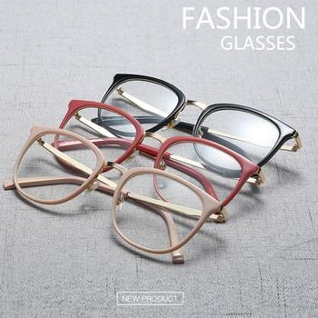 Vintage Optical Eyeglasses Women Frame Oval Metal Unisex Spectacles Female Eye Glasses oculos de Eyewear Prescription Glasses 1