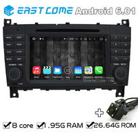 Octa Core 8 Core Android 6.01 Car DVD Player For Mercedes Benz CLK Class W209 CLK200 CLK220 CLK240 A209 With Rear View Camera