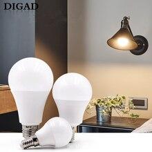 DIGAD Energy saving Led Bulb E14 LED Lamp LED Bulb AC 220V 230V 240V 12W 9W 6W 3W Lampada LED Spotlight Table Lamp Lamps Light