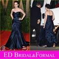 Kristen Stewart Dress Evening Navy Blue Mermaid  Vanity Fair Fantastic Celebrity Red Carpet