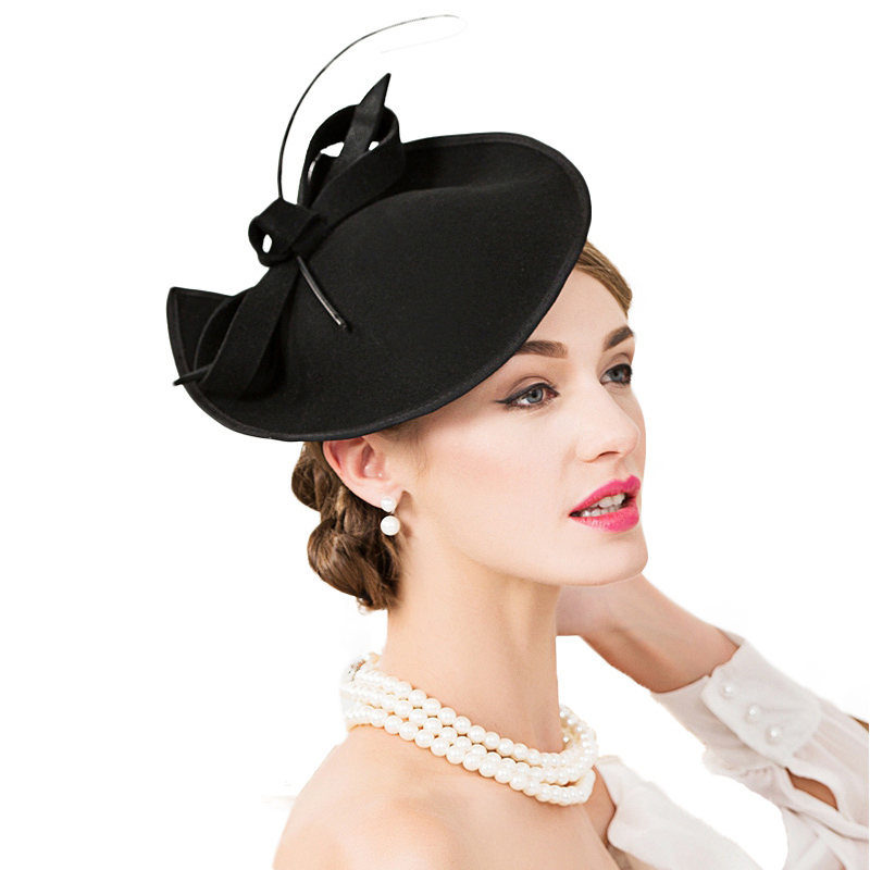 Dropwow FS 100% Wool Church Hat For Black Women Elegant Formal ... 53e43e34a016