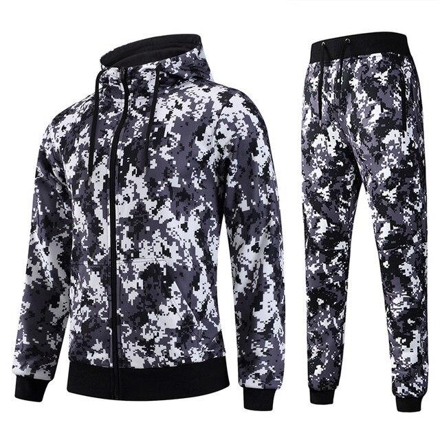ca026d91abfd7 AIRAVATA Marque Vêtements Hommes Survêtement de Sport Hoodies Pantalon  Hommes Pleine Impression Ensemble Mens Designer Élégant