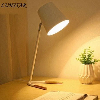 Nordic Simple Modern Led Table Lamp Bedroom Bedside Light College Students Desk Dormitory Study Room Learning Reading Desk Lamp