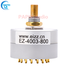 PAPEI EIZZ 4 Way 3 Positions Rotary Switch Signal Source Selector Aluminum Shield 12 Gold Plated Copper Pins For Audio Amplifier